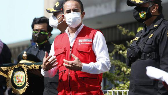 Ministro del Interior, Gastón Rodríguez, ratificó su posición para mantener el toque de queda en medio de la pandemia por coronavirus en el país. (Foto: Violeta Ayasta/GEC)