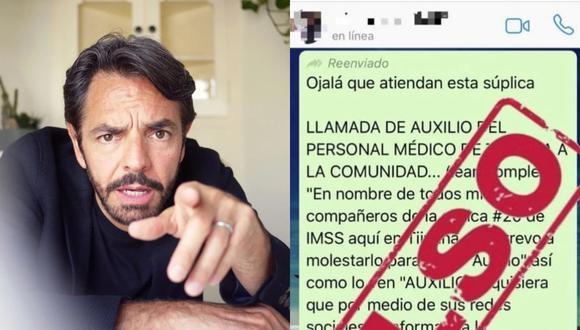 Eugenio Derbez es acusado de difundir noticias falsas y generar pánico en México