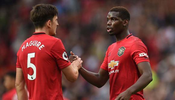 Paul Pogba es respaldado por el técnico de Manchester United, Ole Gunnar Solskjaer. (Foto: AFP)