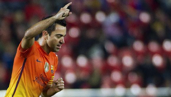 El triste adiós. Xavi pondrá fin a 17 temporadas en Barcelona. Anunció oficial se hará en julio. (AFP)