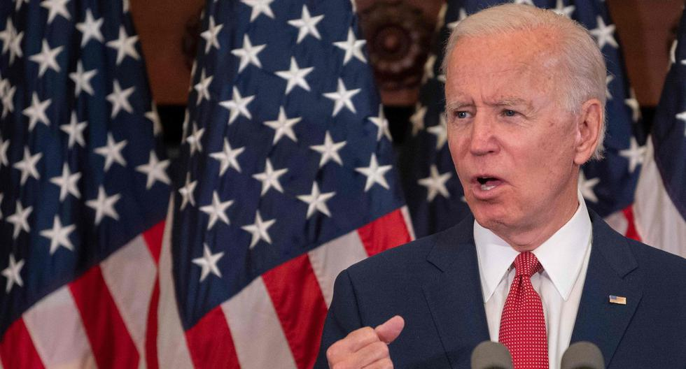 Joe Biden utiliza propaganda política para criticar a Donald Trump por el crimen de George Floyd. (AFP / JIM WATSON).