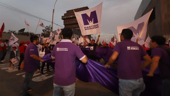 Una segunda lista presidencial fue inscrita para competir en las internas del Partido Morado (Foto: Eduardo Cavero / GEC).