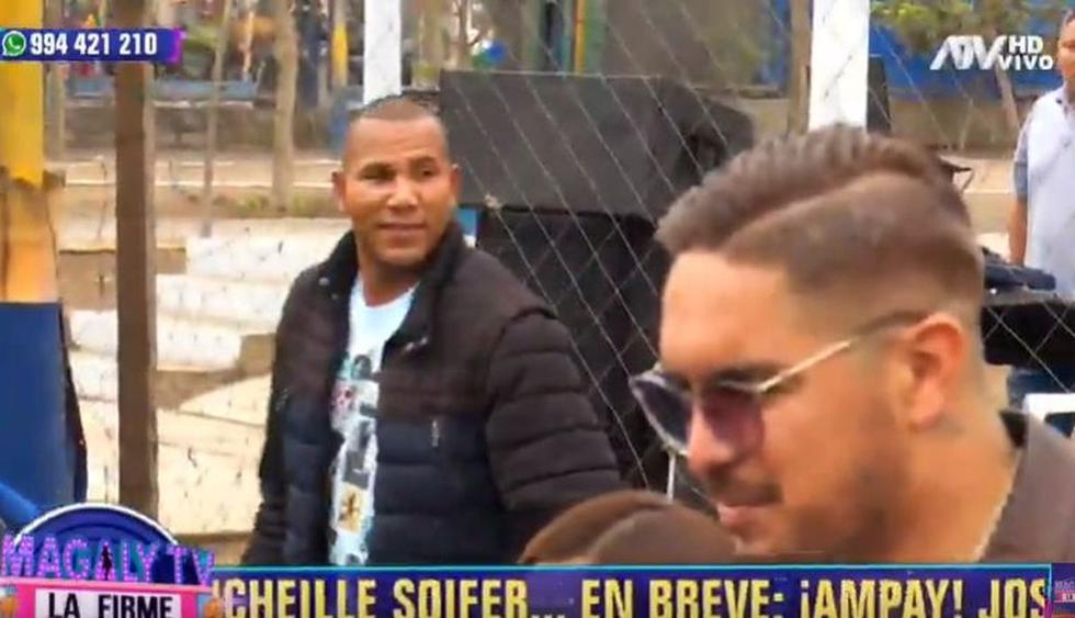 John Galliquio reapareció junto a Juan Vargas y se negó a responder por denuncia de su exesposa. (Foto: ATV)
