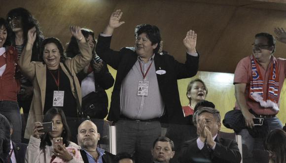Presidente de la FPF asistió al partido que jugó la selección peruana frente a su similar de Costa Rica. (Fotos: Miguel Idme)