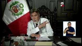 """Presidente Sagasti: """"Voy a poner el hombro, seré uno de los primeros en vacunarme"""""""