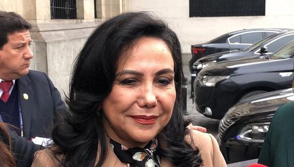 """La ministra de la Mujer invocó a la Comisión Permanente a """"sumar esfuerzos"""" para trabajar por los peruanos. (Foto: GEC)"""