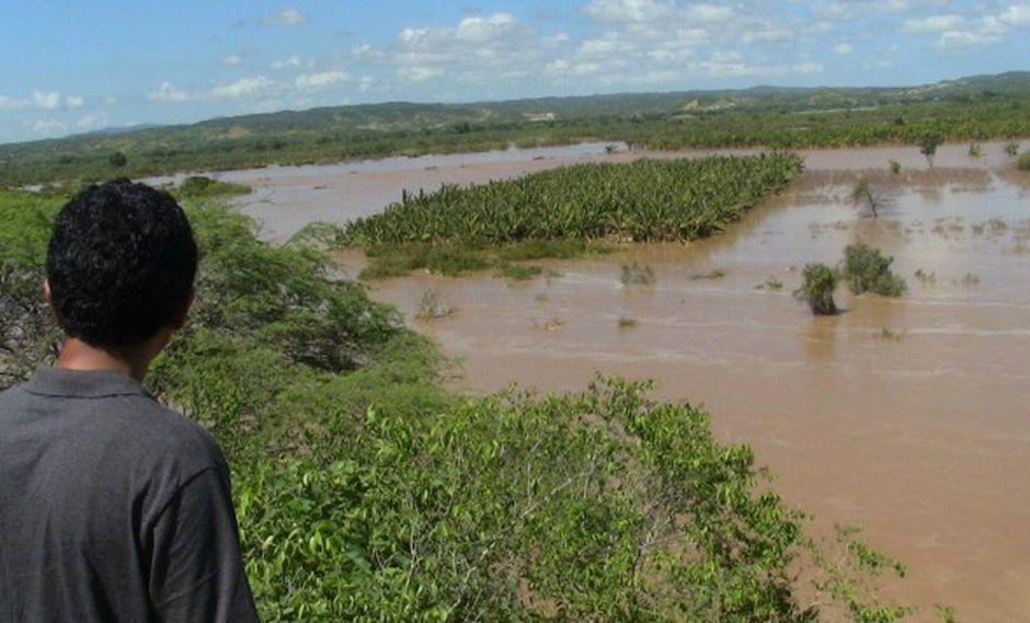No se descarta desborde en la ciudad de Tumbes alrededor de las 10:00 horas. (Foto: Andina)