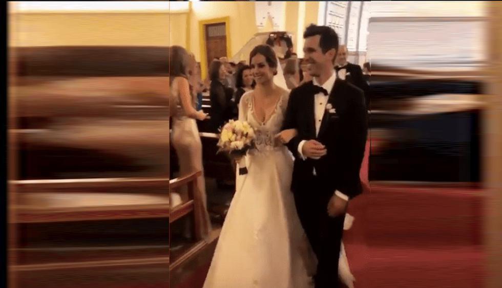 Jesús Alzamora y María Paz Gonzales Vigil se casaron por religioso. (Instagram)