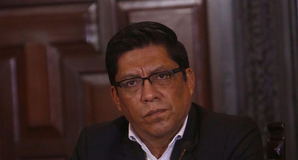 El ministro de Justicia y Derechos Humanos, Vicente Zeballos, saludó ratificación de Zoraida Ávalos. (Foto: GEC / Video: Canal N)