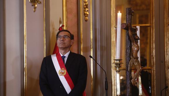 Martín Vizcarra cierra el 2018 con una aprobación superior al 60%, según última encuesta. (GEC)