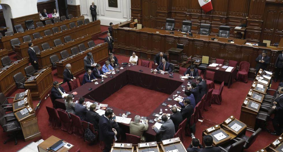 La Comisión Permanente del Congreso, presidida por Pedro Olaechea, sesionó hoy. (Anthony Niño de Guzmán/GEC)