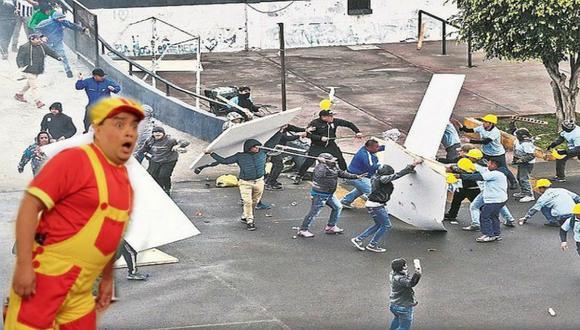 El popular Jorge Benavides acaba de anunciar en Facebook que viene grabando un sketch relacionado con la toma de la explanada del estado de Alianza Lima.  (Foto: Captura de pantalla)