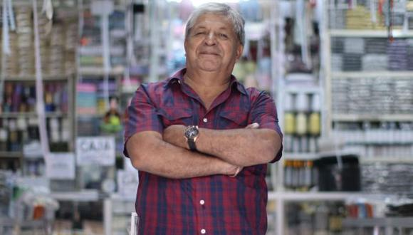 Diógenes Alva es el presidente de la Coordinadora de Gamarra.