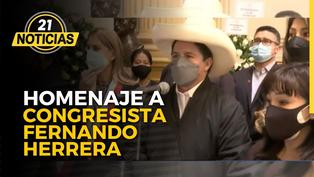 Homenaje al congresista Fernando Herrera