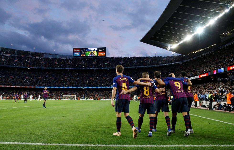 Barcelona goleó por 5-1 al Real Madrid en el Camp Nou. (Reuters)