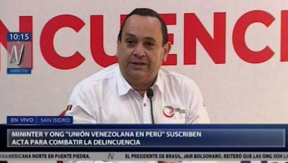 """Presidente de la ONG """"Unión Venezolana en Perú"""", Óscar Pérez, ofreció disculpas públicas por los diversos asaltos y robos protagonizados por sus compatriotas en nuestro país."""