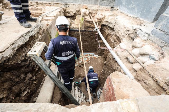 El hallazgo forma parte de las acciones que se ejecutan dentro del Plan Maestro de Recuperación del Centro Histórico de Lima.