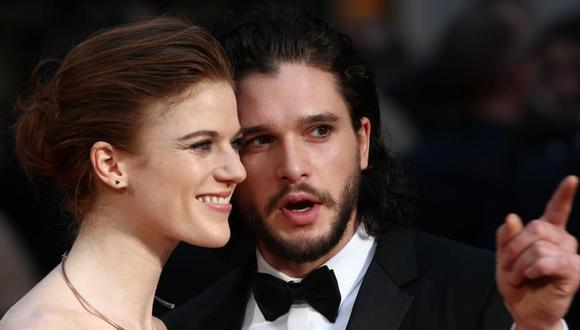 La felicidad de Kit Harington y Rose Leslie, ambos actores de 'Game of Thrones', se vio empañada solo cinco meses después de su boda. (Foto: EFE)