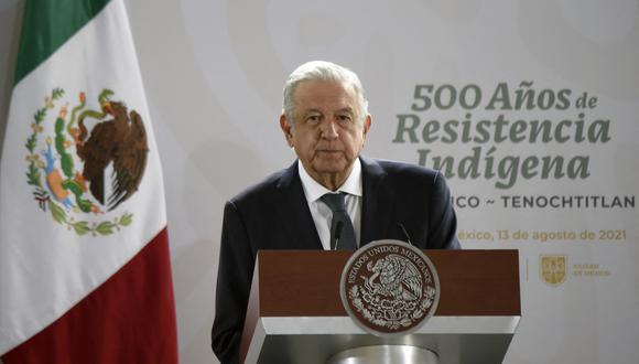 Andrés Manuel López Obrador conmemoró hoy los sismos de 1985 y 2017. (Foto: ALFREDO ESTRELLA / AFP)