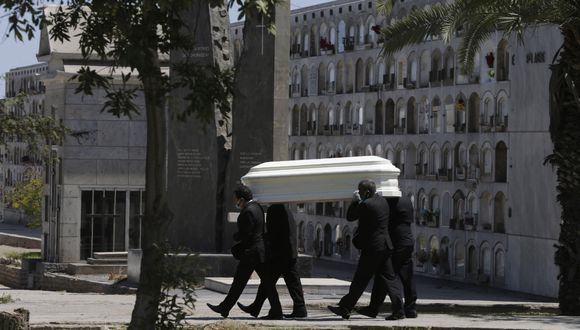 La cantidad de fallecidos por COVID-19 aumentó este martes. (Foto AP / Martin Mejia).