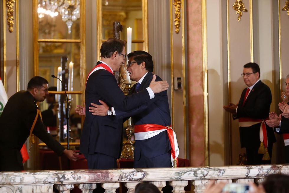 Vicente Zeballos juró como nuevo ministro de Justicia. (Mario Zapata/Perú21)