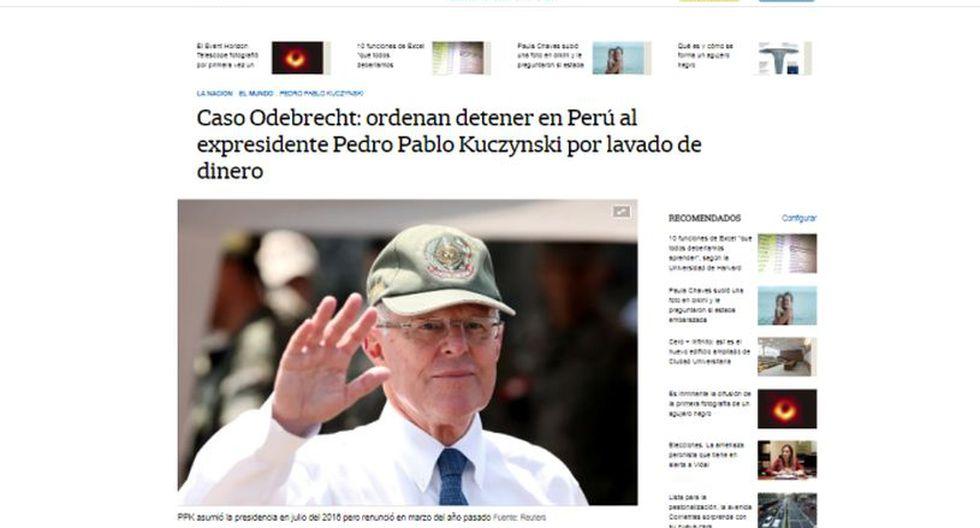 Ordenan detención preliminar contra el ex presidente Pedro Pablo Kuczynski. (Foto: La Nación - Argentina)
