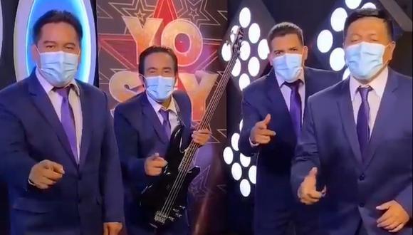 """Imitador de Agua Marina fue aislado junto a todo el grupo por un tema de salud en """"Yo Soy Perú"""". (Foto: Captura de video)"""