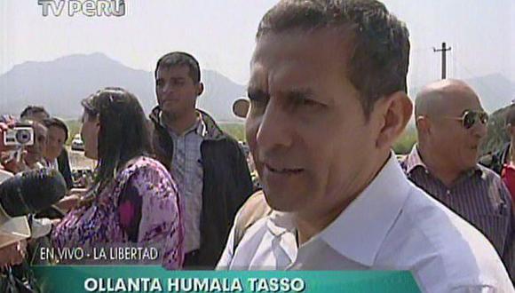 Ollanta Humala busca calmar las aguas en su disputa ante el TC. (TV Perú)