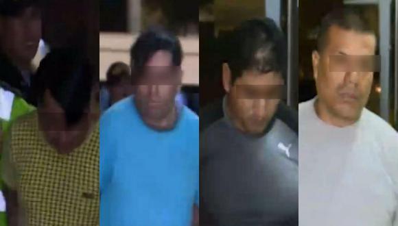 Los cuatro sujetos serán investigados por el delito de tentativa de robo agravado. (Captura: América Noticias)