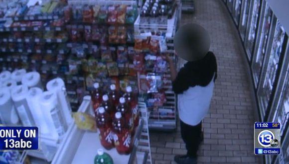 Un adolescente ingresó a robar alimentos a una tienda en Ohio. (Foto: Captura de Yotube - 13abc)