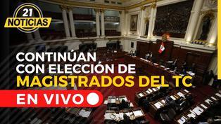Congreso reanuda sesión para elegir magistrados del TC