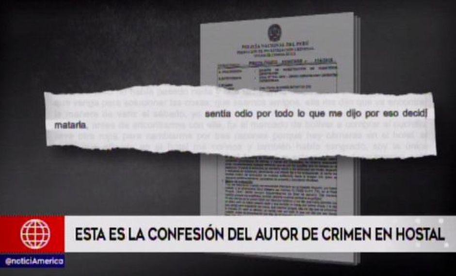 Juan Carlos Álvarez Infantas contó como asesinó a cuchillazos a su ex pareja en un hotel. (Captura: América Noticias)