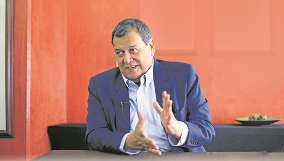"""Jorge Nieto reveló que ha habido """"gestiones"""" para producir un encuentro entre él y Pedro Castillo pero esto no se ha concretado. (@photo.gec)"""