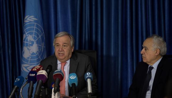 Antonio Guterres, secretario general de Naciones Unidas, condena enérgicamente la escalada militar y los combates en curso en Trípoli y sus alrededores. (Foto: EFE)