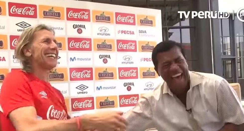 Ricardo Gareca y Julio César Uribe recordaron anécdotas en divertida entrevista. (YouTube / TV Perú)
