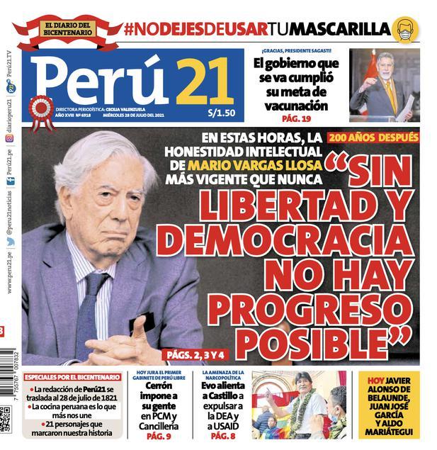 """""""Sin libertad y democracia no hay progreso posible""""."""