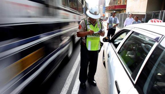 Policía impuso en abril 16,490 papeletas en Lima, 72% más que en marzo. (USI)