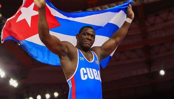 JMijaín López conquistó la medalla de oro en la división de 130 kg en Tokio 2020. (Foto: Agencias)