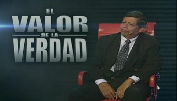 'El valor de la verdad': Cromwell Gálvez se sentará en el sillón rojo. (Difusión)