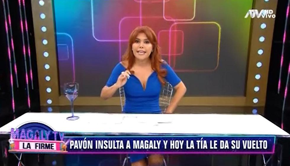 """Magaly Medina respondió con dureza las críticas de Antonio Pavón: """"Muerdes la mano de quien te dio de comer"""". (Foto: Captura de video)"""