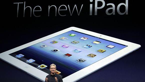 El último iPad fue presentado por Tim Cook la semana pasada. (AP)