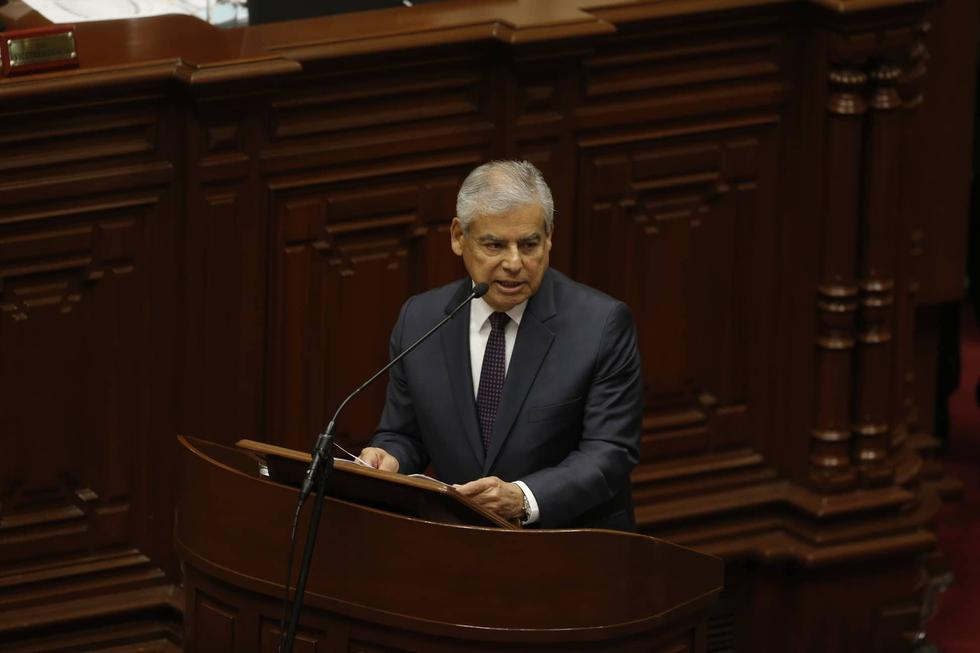 Premier Villanueva sustenta la cuestión de confianza en el Congreso. Cinco bancadas anunciaron previamente que lo apoyarán. (Mario Zapata/Perú21)