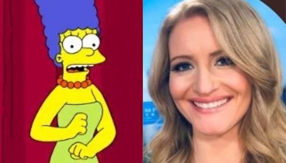 "Marge Simpson ""responde"" al equipo de Donald Trump por compararla con Kamala Harris. (Foto: @TheSimpsons/@JennaEllisEsq)"