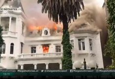 Chile: incendian edificio histórico de Santiago donde funcionaba una universidad | VIDEO