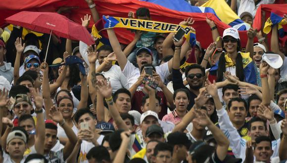 Sigue las noticias de Venezuela HOY 20 de febrero del 2019. El país de Nicolás Maduro y Juan Guaidó vive momentos de tensión política y crisis económica. (AFP).
