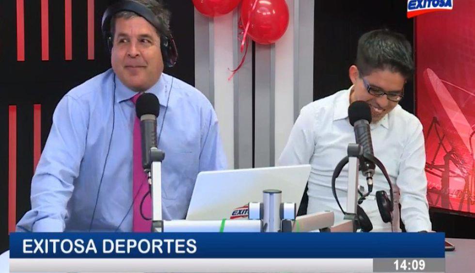Gonzalo Núñez volvió con nuevo look a la conducción de Exitosa Deportes. (Exitosa Deportes)