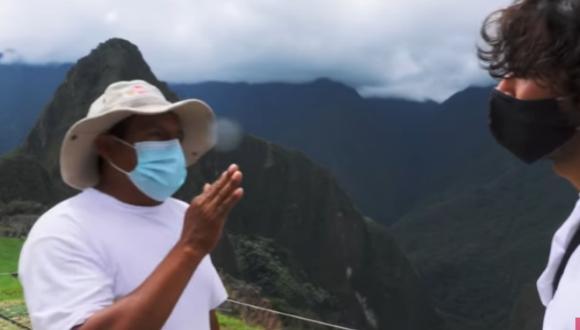 Jóvenes fueron impedidos de hacer una serie de grabaciones debido a que están prohibidas en Machu Picchu. Foto: captura