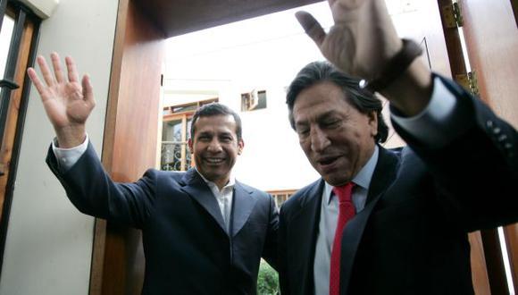Humala y Toledo concluyeron su encuentro con un renovado pacto bajo el brazo. (Perú21)