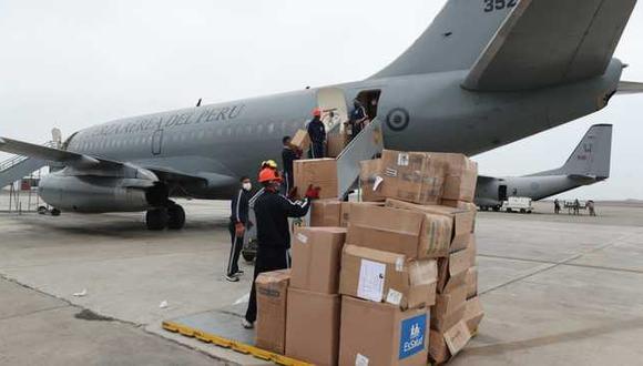 Un lote de insumos médicos, de al menos cinco toneladas, llegó ayer a Madre de Dios. (Foto: Minsa)