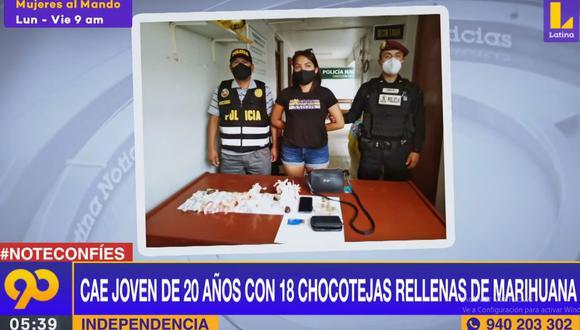 Karol Castillo Gonzales contó a la Policía que los productos eran elaborado por una amiga en una vivienda del Cercado de Lima y que ella se encargaba de venderlos. (Latina)